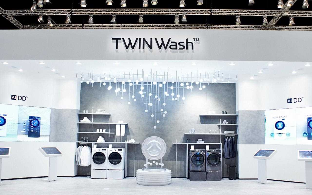 The LG AI Washer and Dryer were on show in the TWINWash section of IFA 2019 | More at LG MAGAZINE