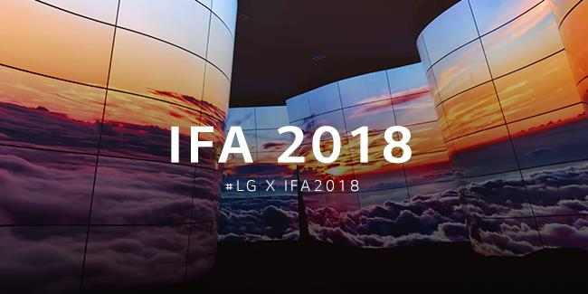 The OLED Canyon exhibition LG has become famous for, showcased at IFA 2018 #LGxIFA2018