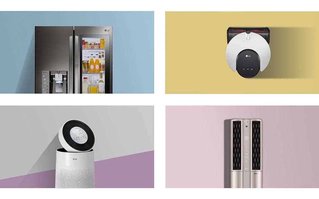 LG presented new smart home appliances meet artificial intelligence (AI) technology at ces 2018.