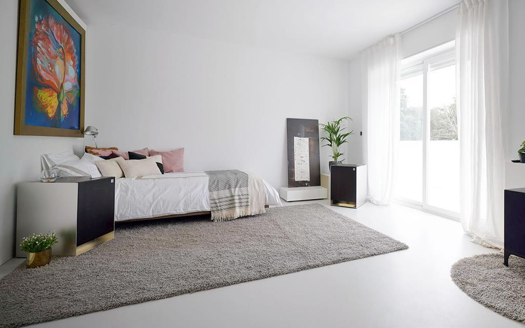 The ultimate LG smart home at InnoFest in Madrid, including a master bedroom with LG Objet furniture | More at LG MAGAZINE
