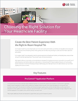 Brochure  Choosing the Right Solution for Your Healthcare Facility