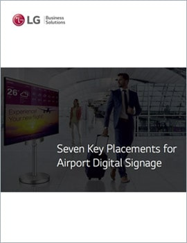 E-Book • 7 Key Placements for Airport Digital Signage