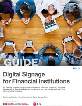 Thumb Digital Signage for Financial Institutions