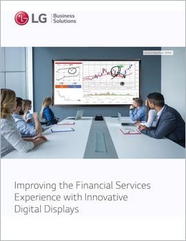 E-Book • Improving the Financial Services Experience with Innovative Digital Displays