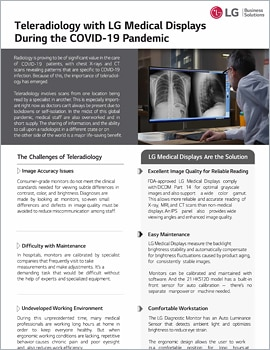 One Page  Teleradiology with LG Medical Displays During the COVI D-19 Pandemic
