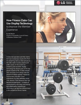 Article  How Fitness Clubs Can Use Display Technology to Improve the Member Experience