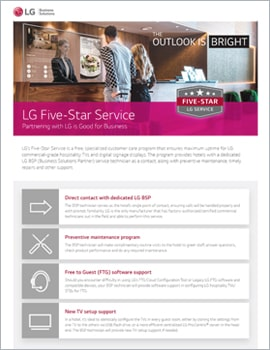 Brochure • LG Five-Star Service