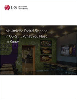 E-Book • What You Need to Know About Maximizing Digital Signage in QSRs