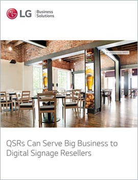 E-Book • QSRs Can Serve Big Business to Digital Signage Resellers