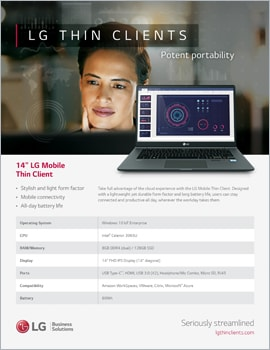 Brochure • LG Thin Clients, Potent Portability