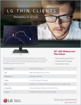 Brochure • LG Thin Clients, Reliability in Action