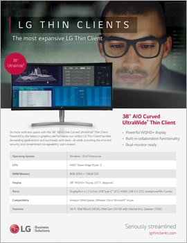 Brochure • LG Thin Clients, The Most Expansive LG Thin Client