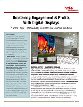 White Paper • Bolstering Engagement and Profits with Digital Displays