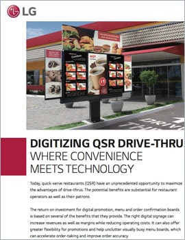 White Paper • Digitizing the QSR Drive-Thru, Where Convenience Meets Technology