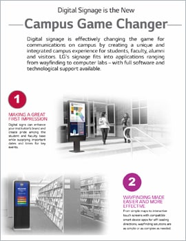 Infographic • Digital Signage is the New Campus Game Changer