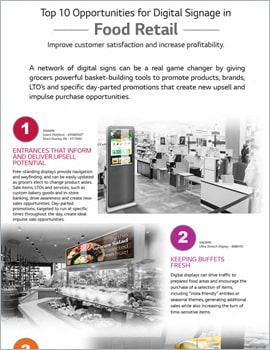 Infographic • Top 10 Opportunities for Digital Signage in Food Retail