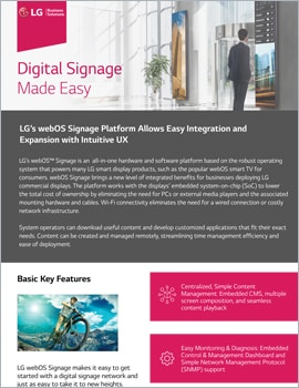 One Page •  Digital Signage Made Easy