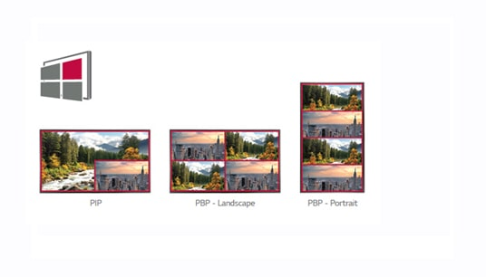 Multiple Screen with PBP or PIP