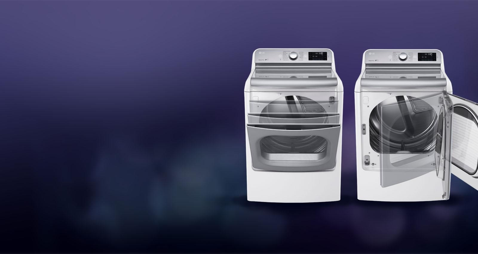 A look at how EasyLoad™ door of the LG DLEX7700 dryer functions