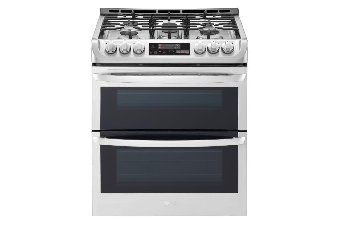 6 9 Cu Ft Smart Wi Fi Enabled Gas Double Oven Slide In Range With Probake Convection And Easyclean