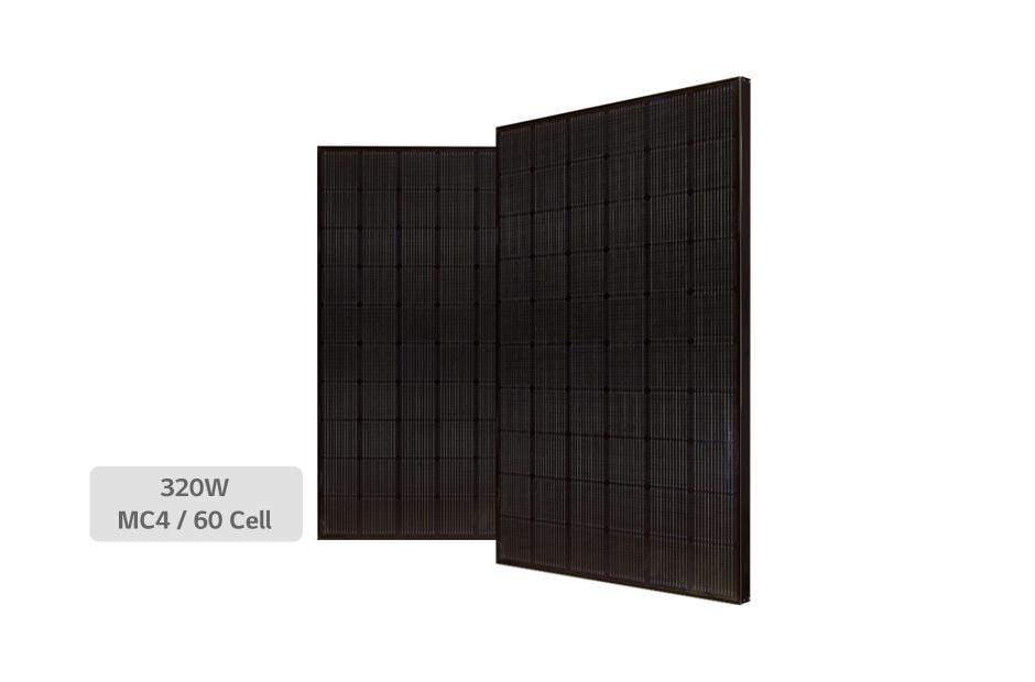 LG 320N1K-A5 Black on Black Mono Solar Panel