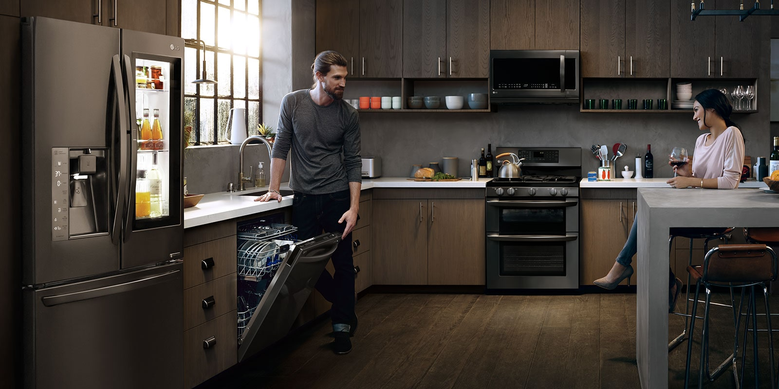Lg Black Stainless Steel Series Liances