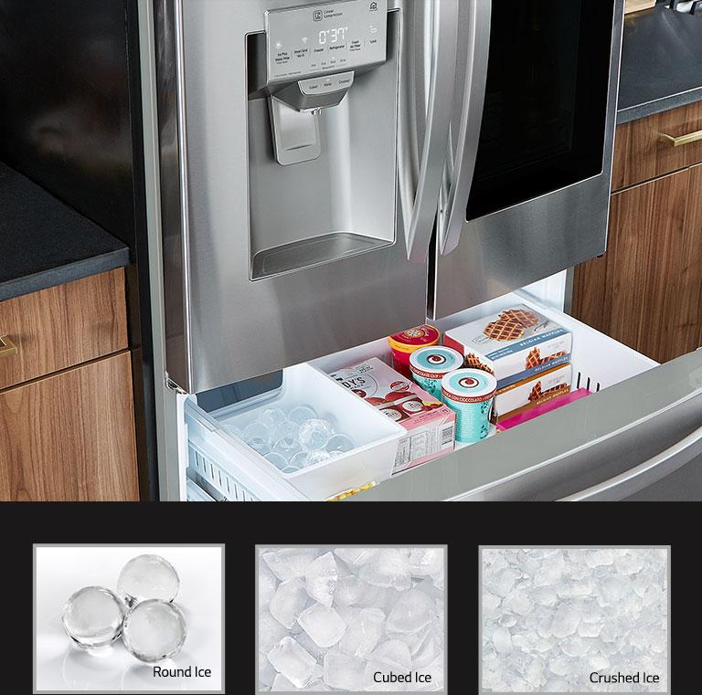 LG Craft Ice Refrigerator: Dual Ice Maker for Ice Balls | LG USA