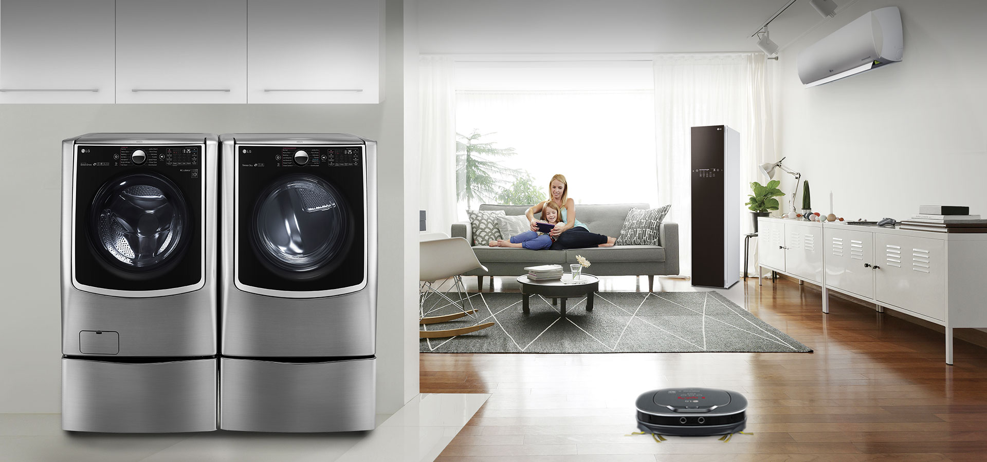 living room appliances. Home Is Where The Comfort  LG SmartThinQ Living Smart Appliances USA