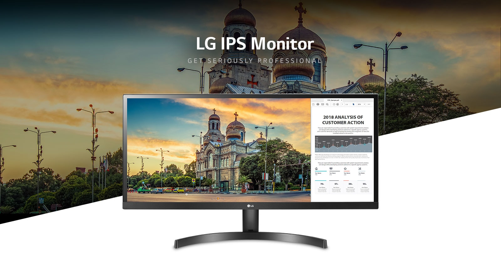 LG IPS LED Monitors w/Thunderbolt™ 3 & High-Speed USB Type-C
