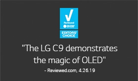 Reviewed.com, EDITORS' CHOICE. The LG C9 demonstrates the magic of OLED - Reviewed.com, 4.26.19