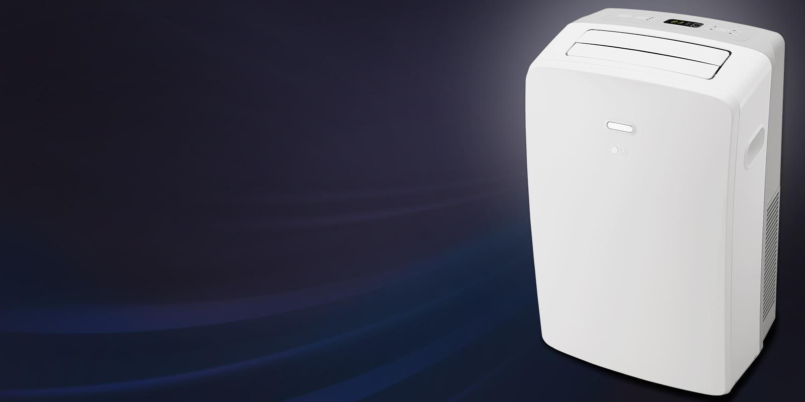 Front view of an LG portable air conditioner.