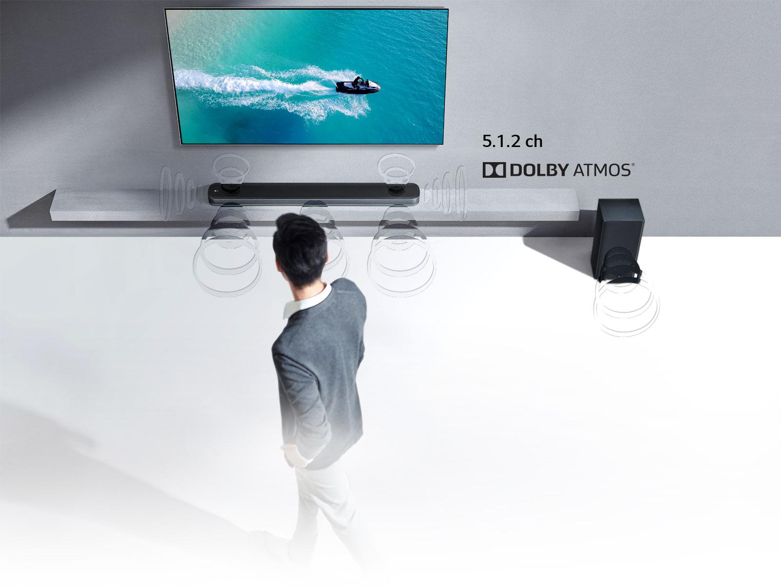 LG SKC9 5 1 2 Channel High Resolution Audio Sound Bar with Dolby Atmos