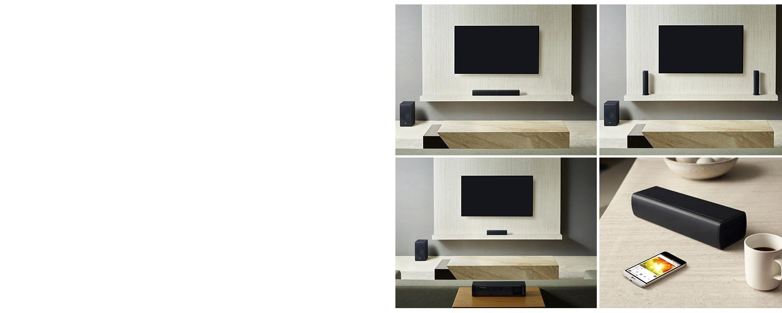 LG SJ7: Sound Bar Flex w/ Wireless Subwoofer | LG USA