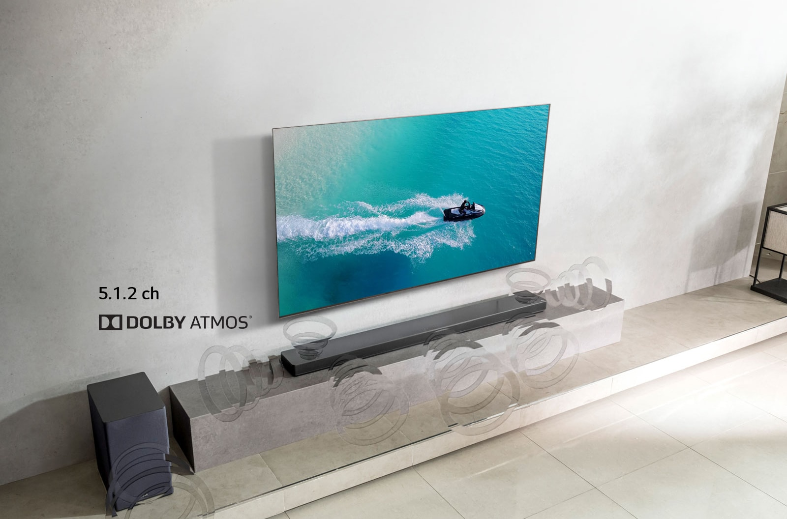LG SK10Y 5 1 2 Channel High Resolution Audio Sound Bar w/ Meridian  Technology & Dolby Atmos
