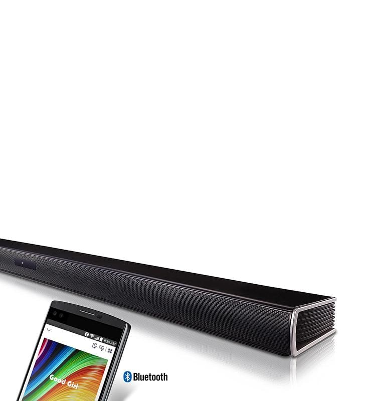 2 1ch 300W Sound Bar with Wireless Subwoofer and Bluetooth® Connectivity