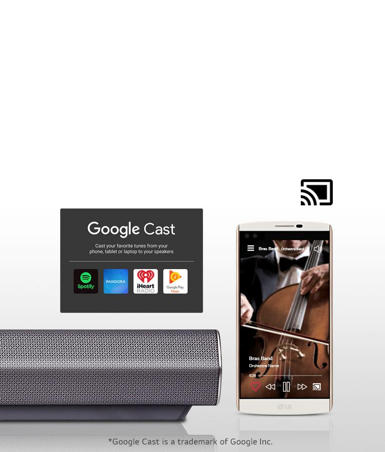 4 0ch Music Flow Wi-Fi Streaming Sound Bar with Dual Bass Ports