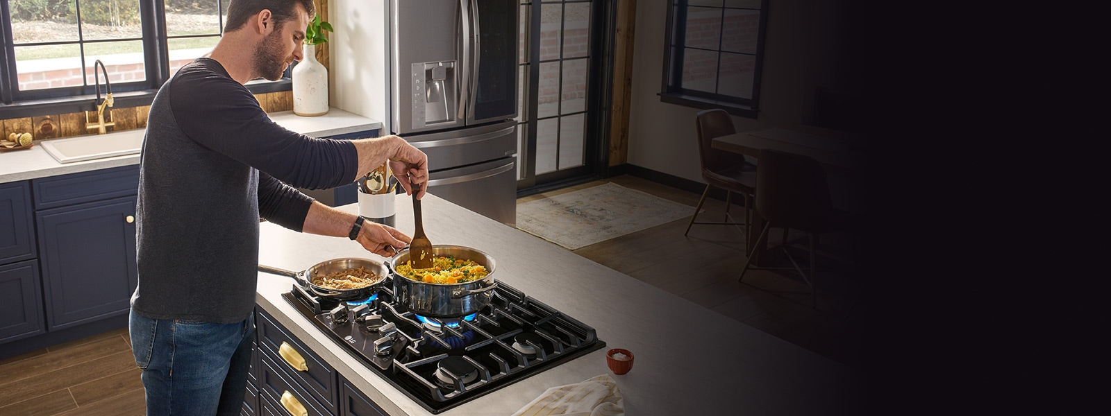 Fuel Induction Service >> LG Gas & Electric Cooktops: Cook like a Chef | LG USA