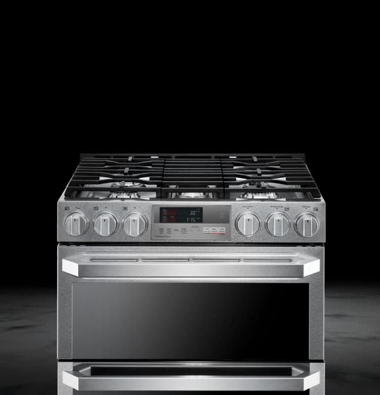 LG SIGNATURE 7 3 cu ft  Smart wi-fi Enabled Dual Fuel Double Oven Range  with ProBake Convection®