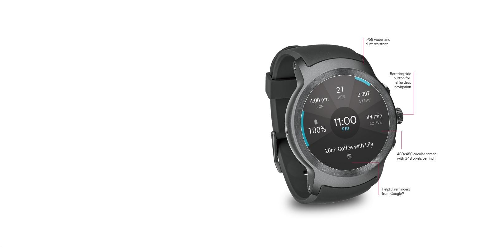 Lg Usa Smart Watch Sport For Att With Android Wear 20 2014 Ram 7 Pin Wire Diagram Dynamic Design