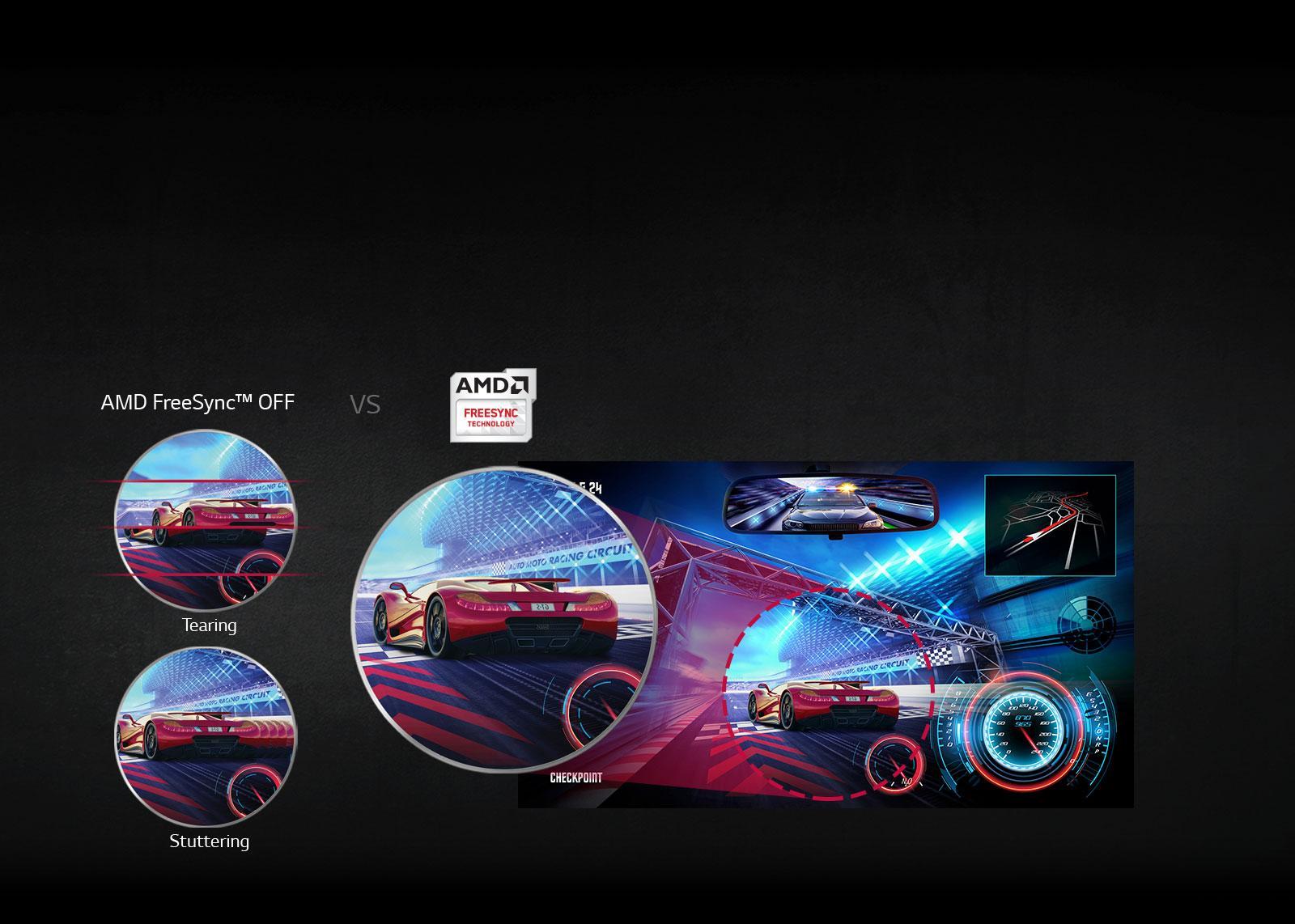 27GK750F-B AMD FreeSync™ Technology