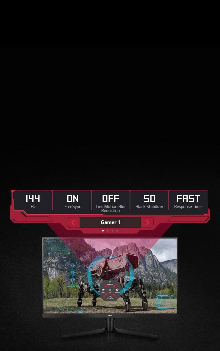 LG 32GK850F-B 32 Inch UltraGear™ QHD Gaming Monitor with Radeon FreeSync™ 2  Technology