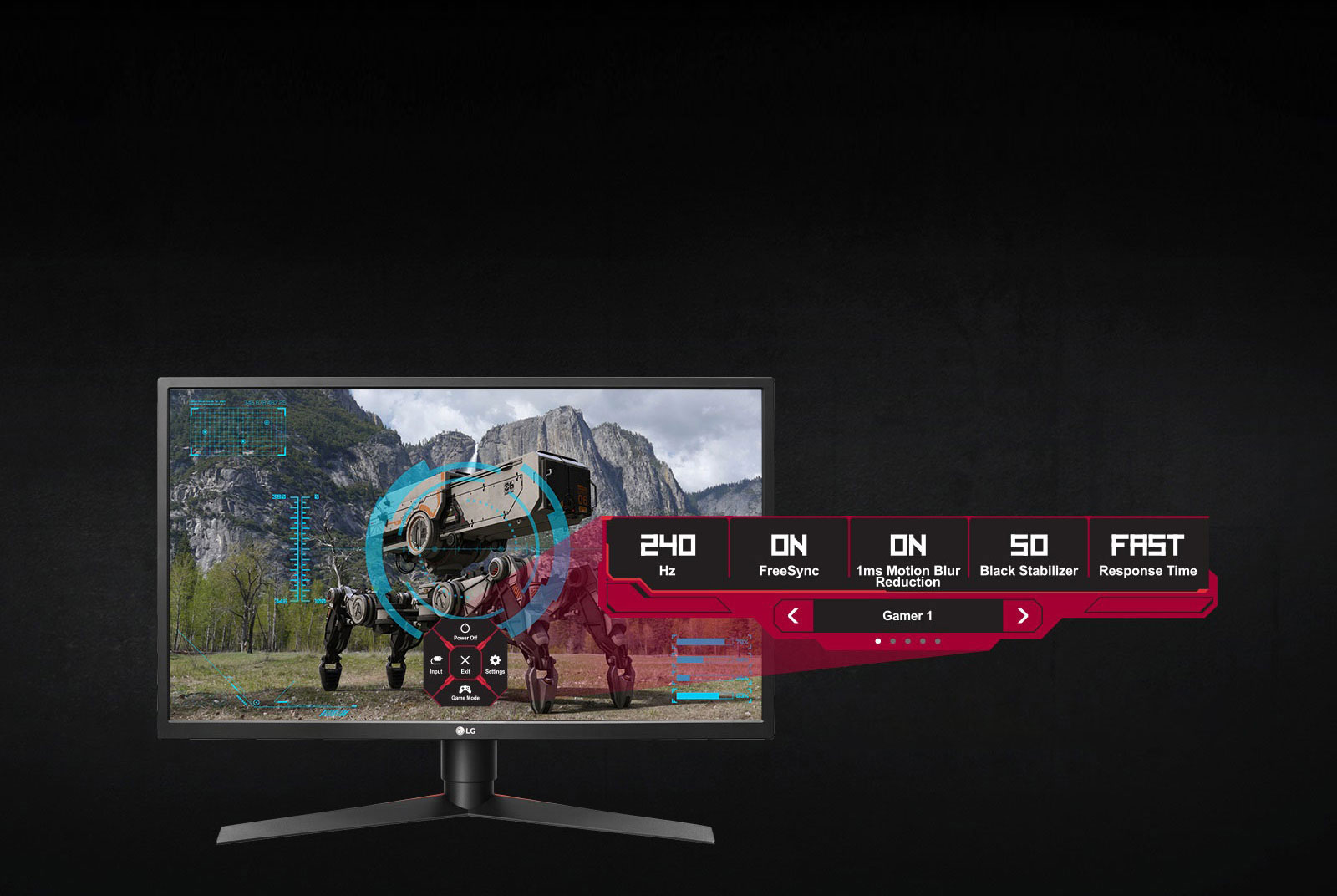 27GK750F-B AMD FreeSync™ Technology