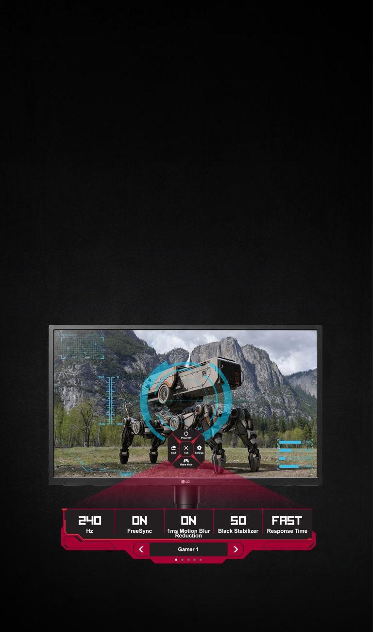 LG 27GK750F-B 27 Inch UltraGear™ Full HD G-SYNC Compatible Gaming Monitor  with Adaptive Sync
