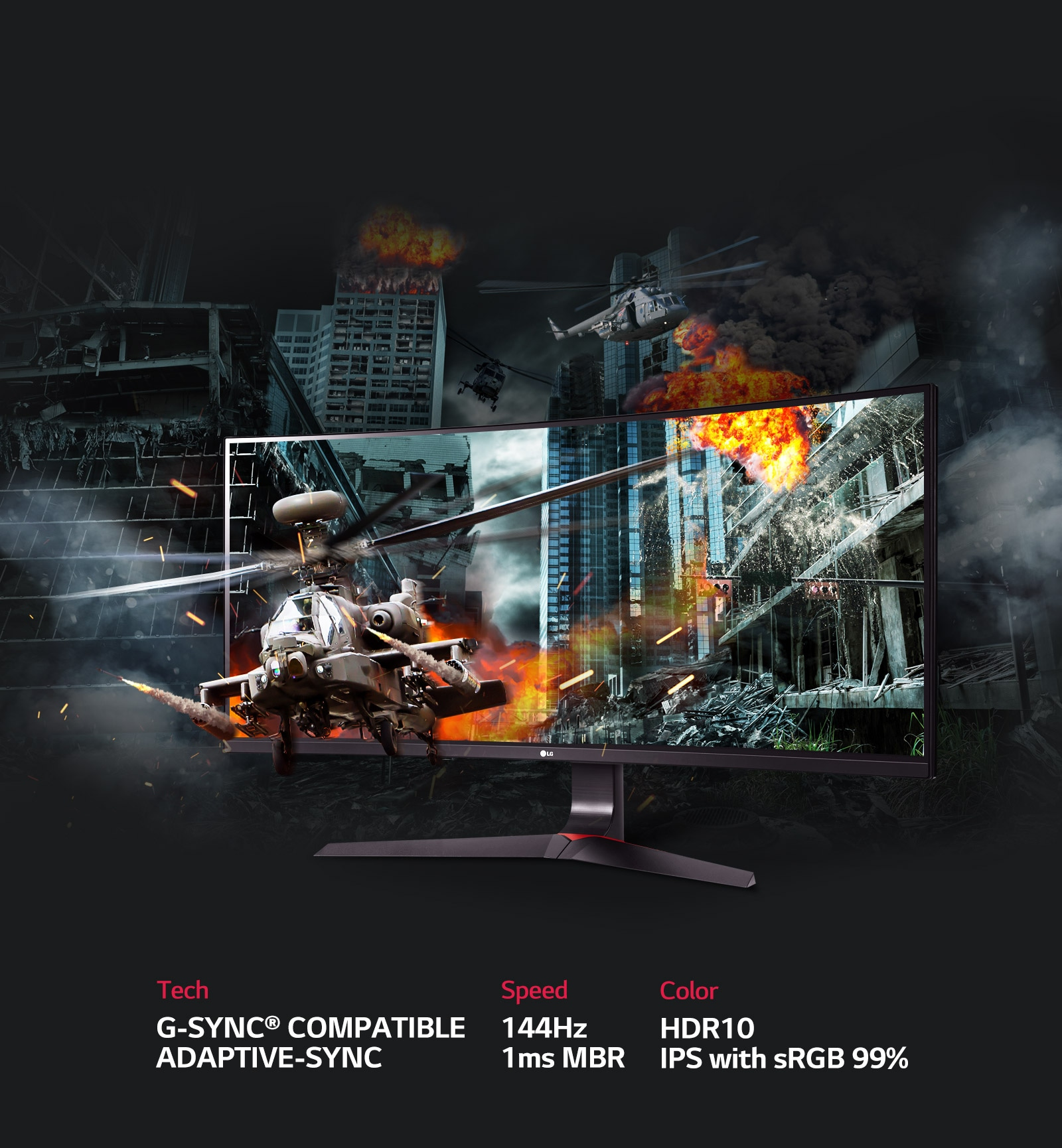 34'' 21:9 UltraWide™ Gaming Monitor with G-Sync® Compatible, Adaptive-Sync
