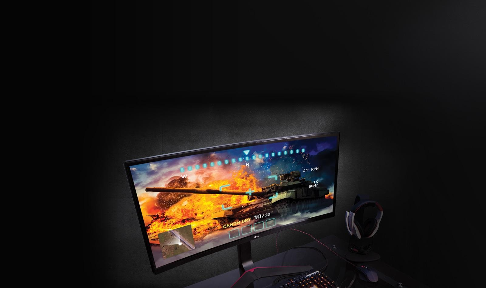 "21:9 34"" Full HD Curved IPS Display For Gaming"