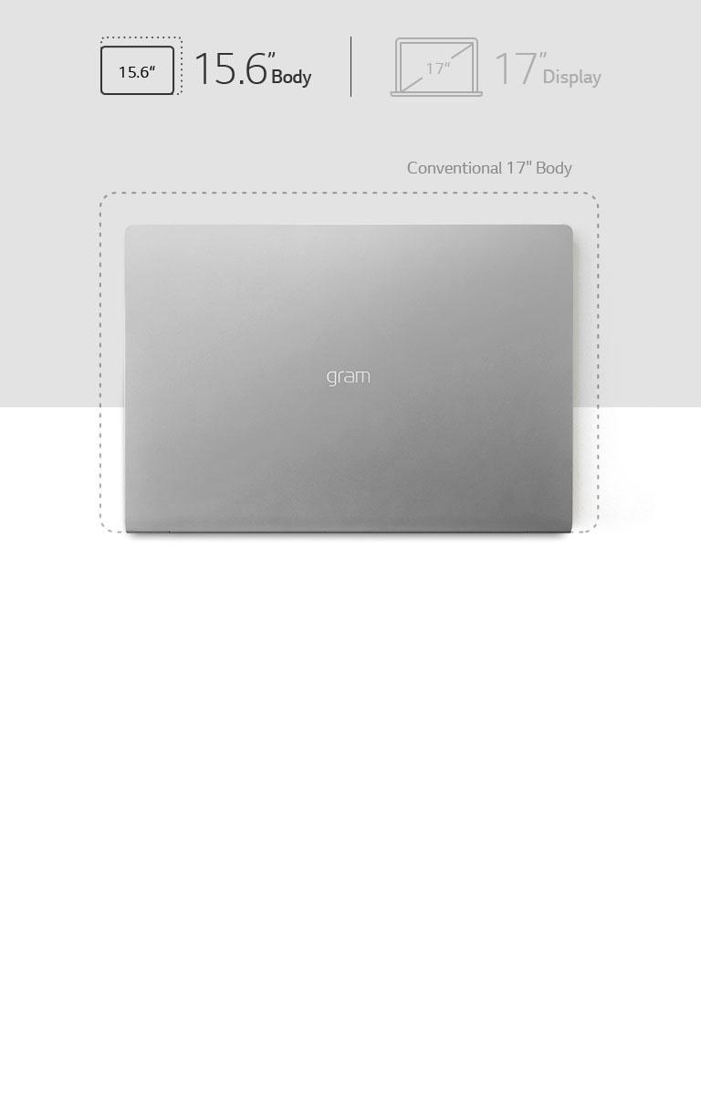 "LG gram 17"" Ultra-Lightweight Laptop with Intel® Core™ i7 processor"