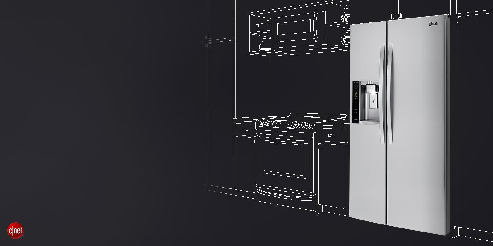 bb47c46741 LG Counter-Depth Refrigerators with Large Capacity