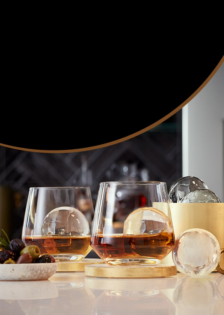 LG Craft Ice Refrigerators: Round Ice Maker for Craft Drinks   LG USA
