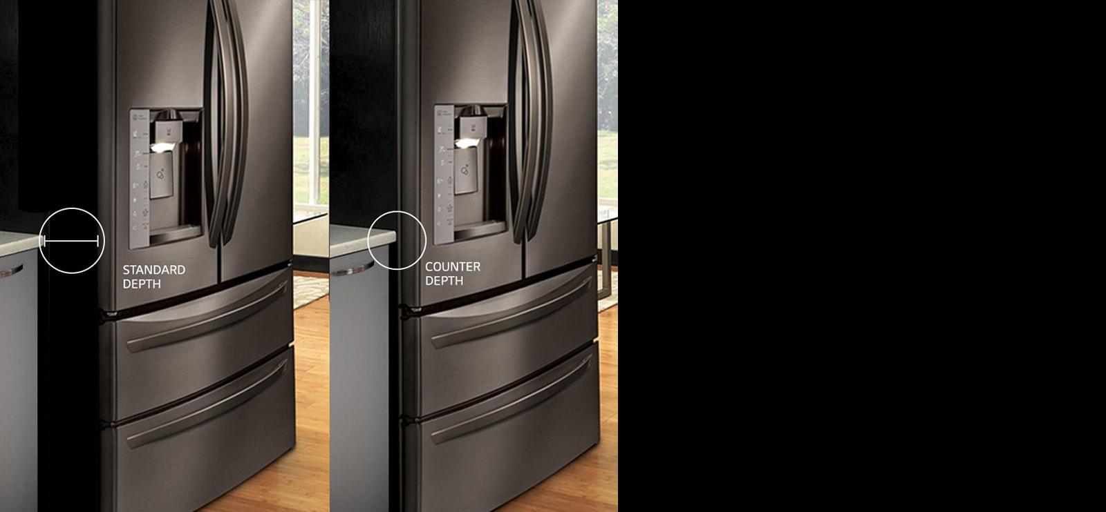 Impeccably Aligned Design Lg Counter Depth Refrigerators