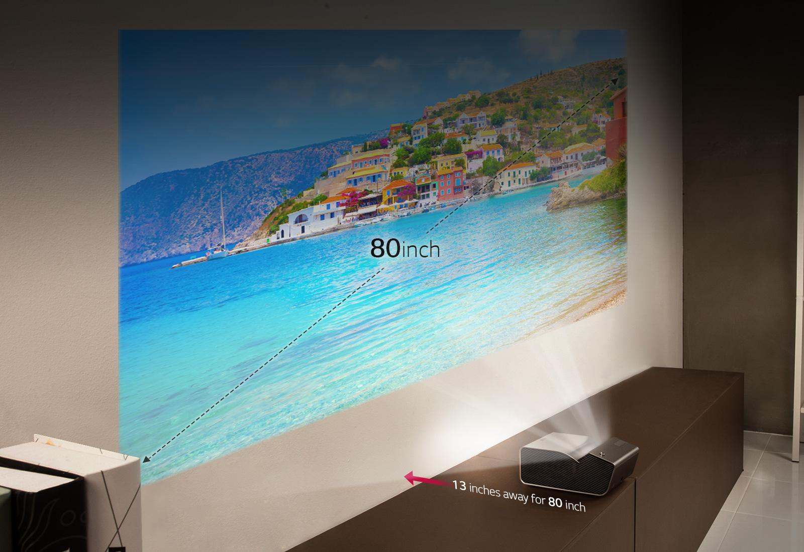 Lg Ph450u Ultra Short Throw Led Projector With Embedded